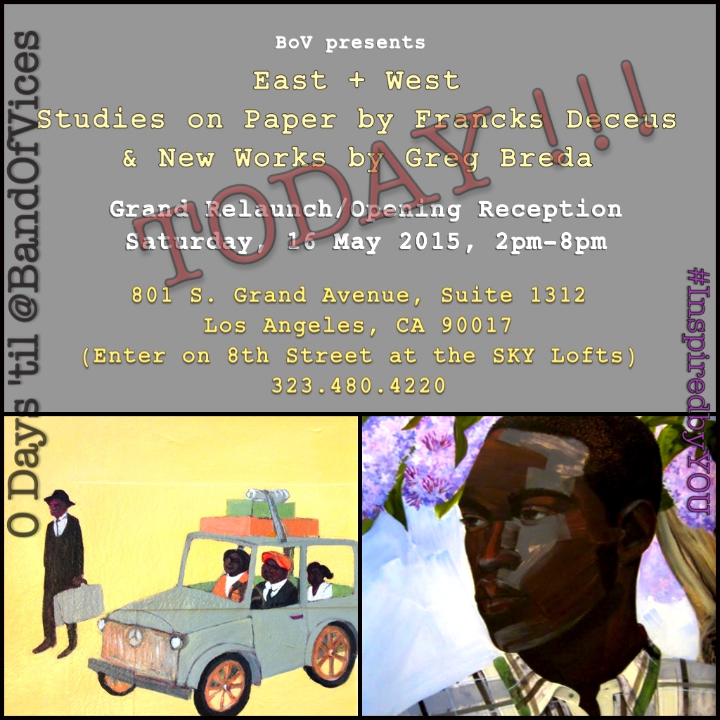 Terrell Tilford's new Art Gallery – Band of Vices – opens Today
